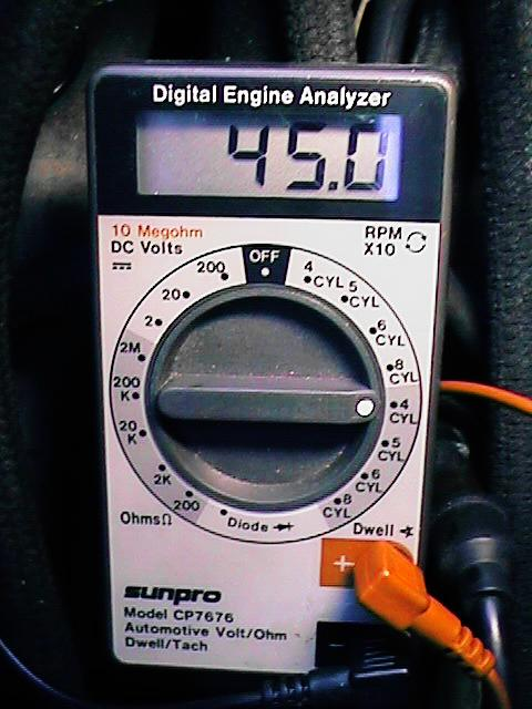 how to use a dwell meter to set points